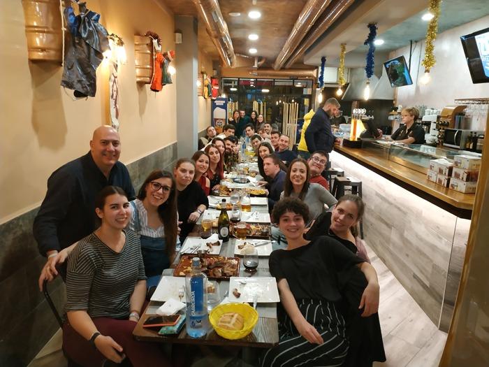 Cena de Navidad los voluntarios