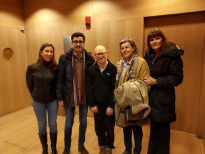 De izquierda a derecha, Almudena Timón, José Luis Mateos, Jorge, María Victoria Gil y Almudena Parrés
