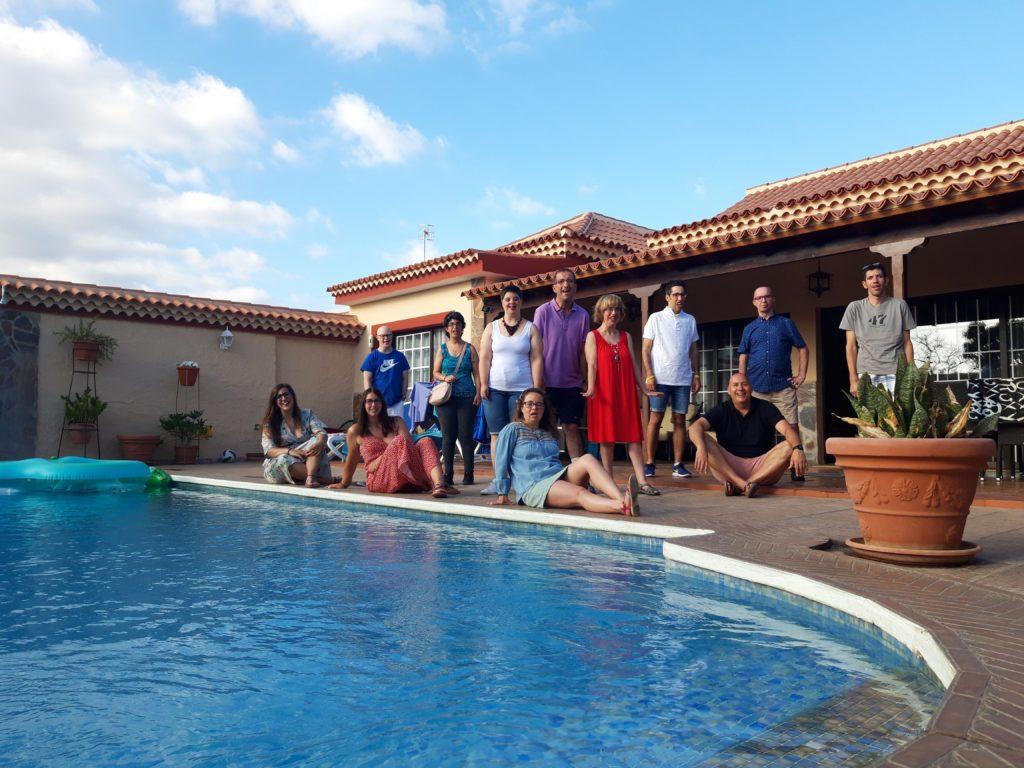 Participantes en las vacaciones de adultos 2019 en la casa de Tenerife.