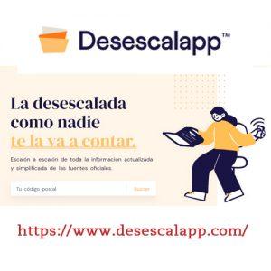 """Aquí te conectamos con la web """"desescalapp""""."""