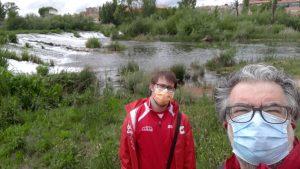 Momento durante un paseo al lado del río Tormes.