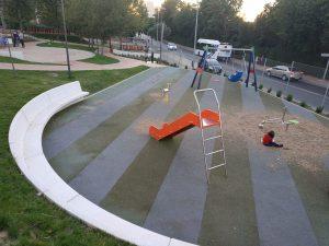 Imagen de la zona infantil del parque finalizada