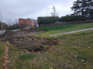 Imagen donde se construirá la zona infantil del parque