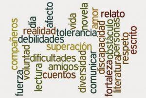 Imagen con palabras con las que la autora de discalibros define lo que presente en su blog